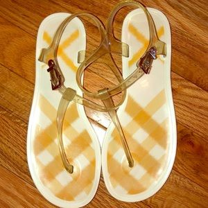 Burberry Nova Check Thong Jelly Sandals
